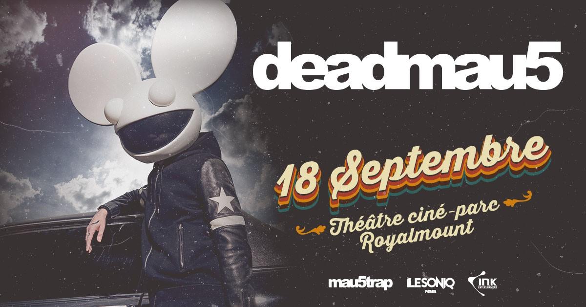 Deadmau5 annonce un concert live au Théâtre Ciné-Parc Royalmount en septembre