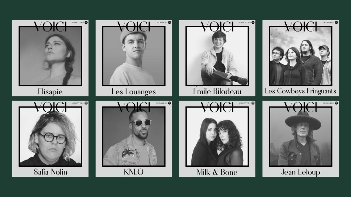 Voici: redécouvrez vos artistes québécois préférés avec nos playlists Spotify